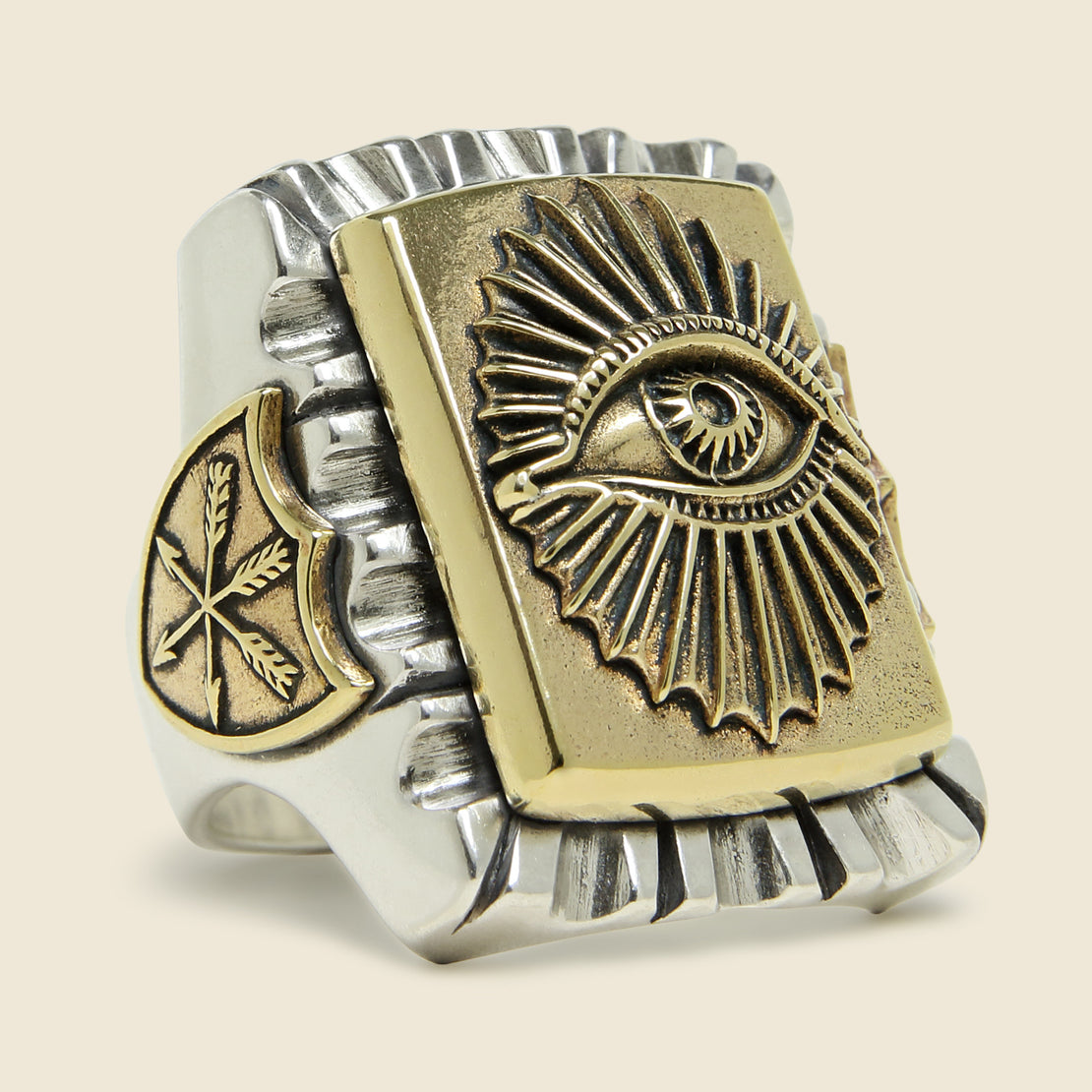 LHN Jewelry All Seeing Eye Souvenir Ring - Silver/Brass
