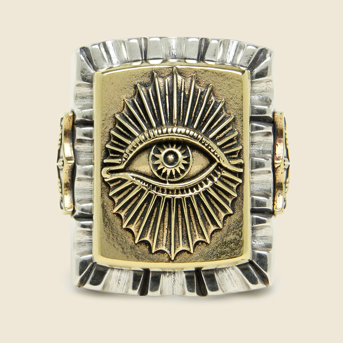 All Seeing Eye Souvenir Ring - Silver/Brass