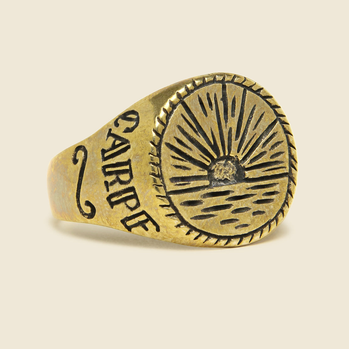 LHN Jewelry Sunset Signet Ring - Brass