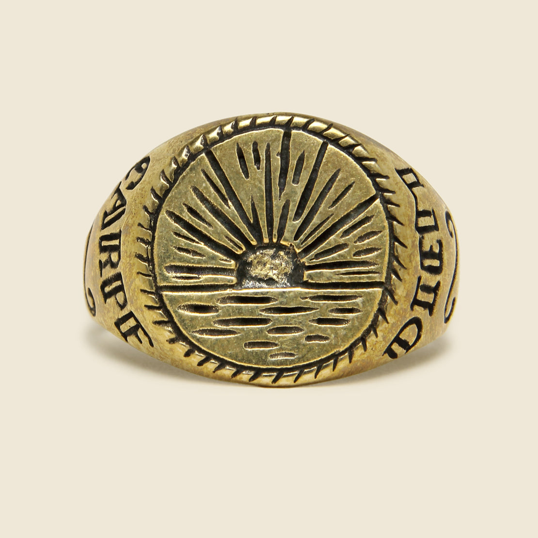 Sunset Signet Ring - Brass