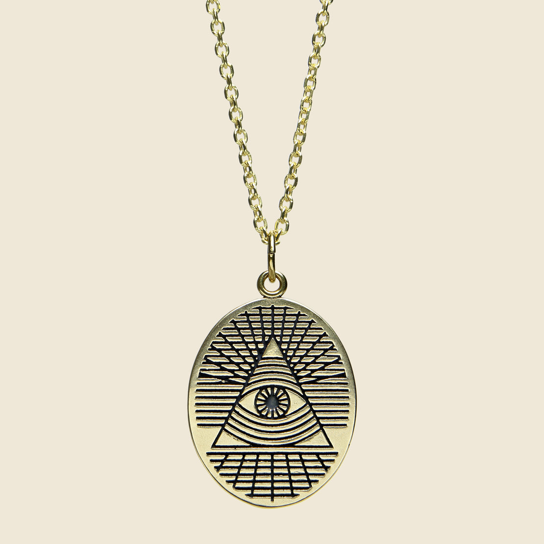 LHN Jewelry All Seeing Eye Pendant - Brass