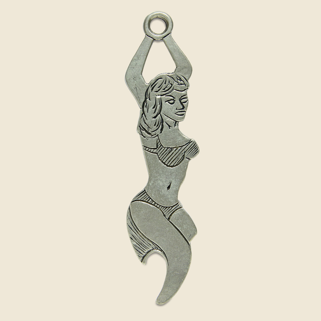 LHN Jewelry Bikini Babe Bottle Opener - Nickel