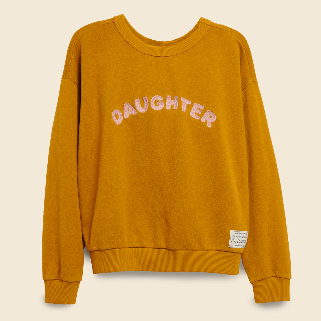 Fort Lonesome DAUGHTER Sweatshirt - Gold/Pink