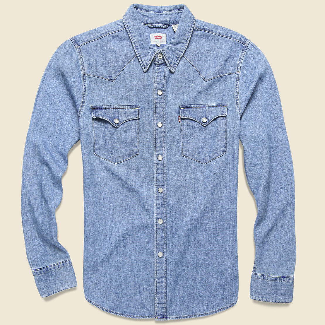 Levis Premium Barstow Western Denim Shirt - Red Cast Stone