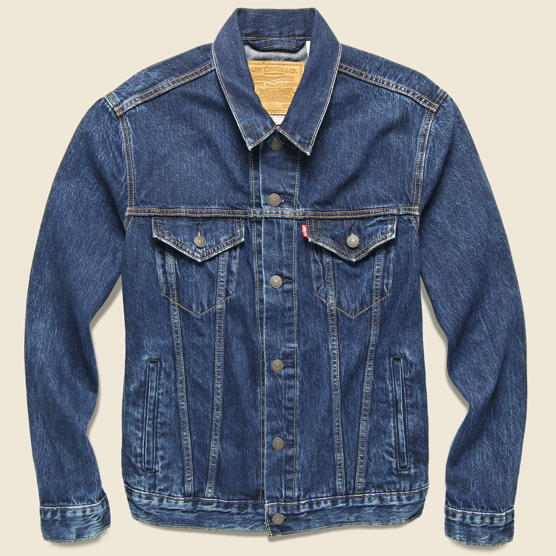 Levis Premium Trucker Jacket - Rough Rinse