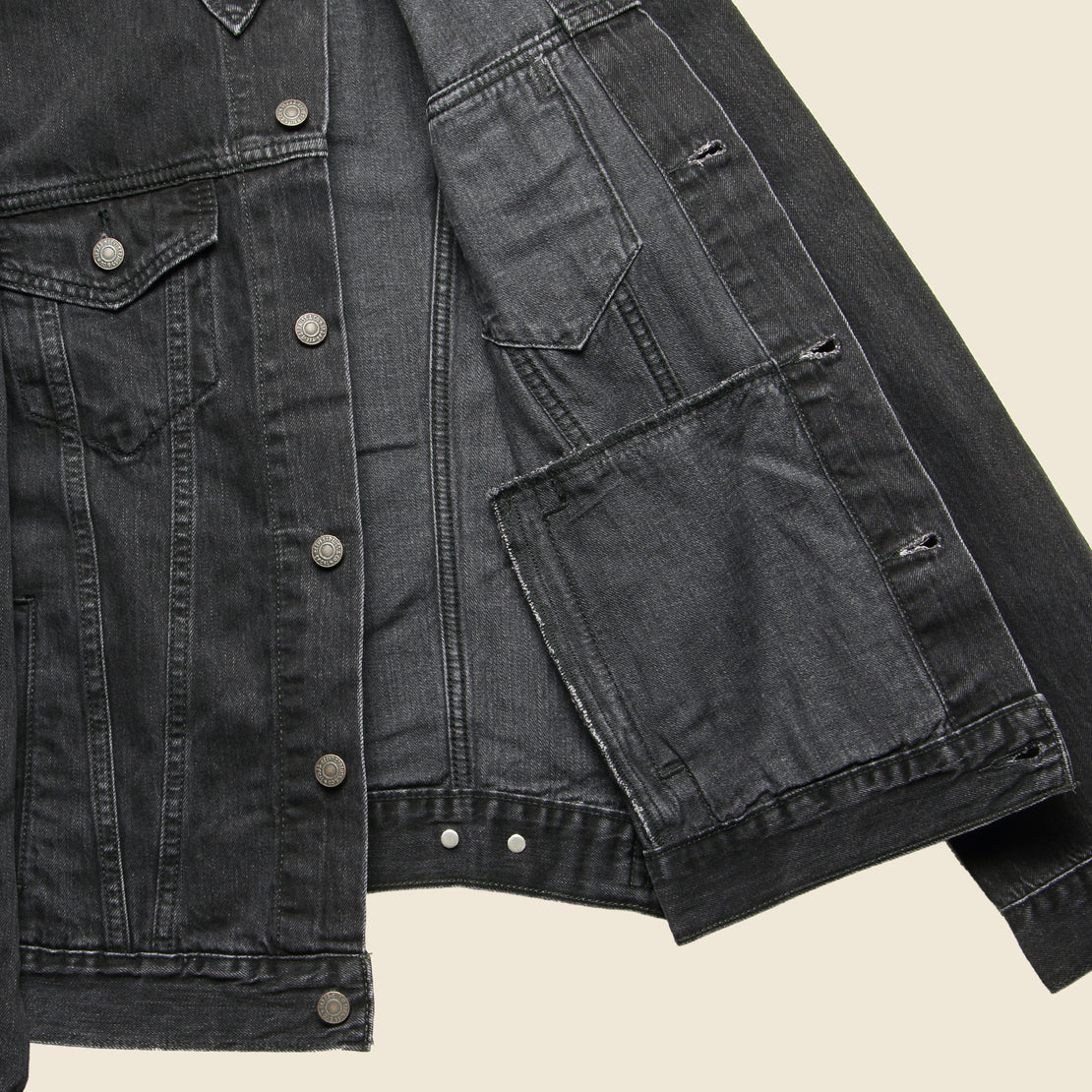 Trucker Jacket - Liquorice
