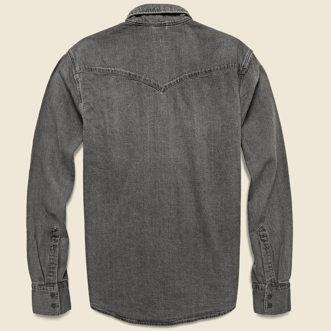 Barstow Western Denim Shirt - Black Worn In
