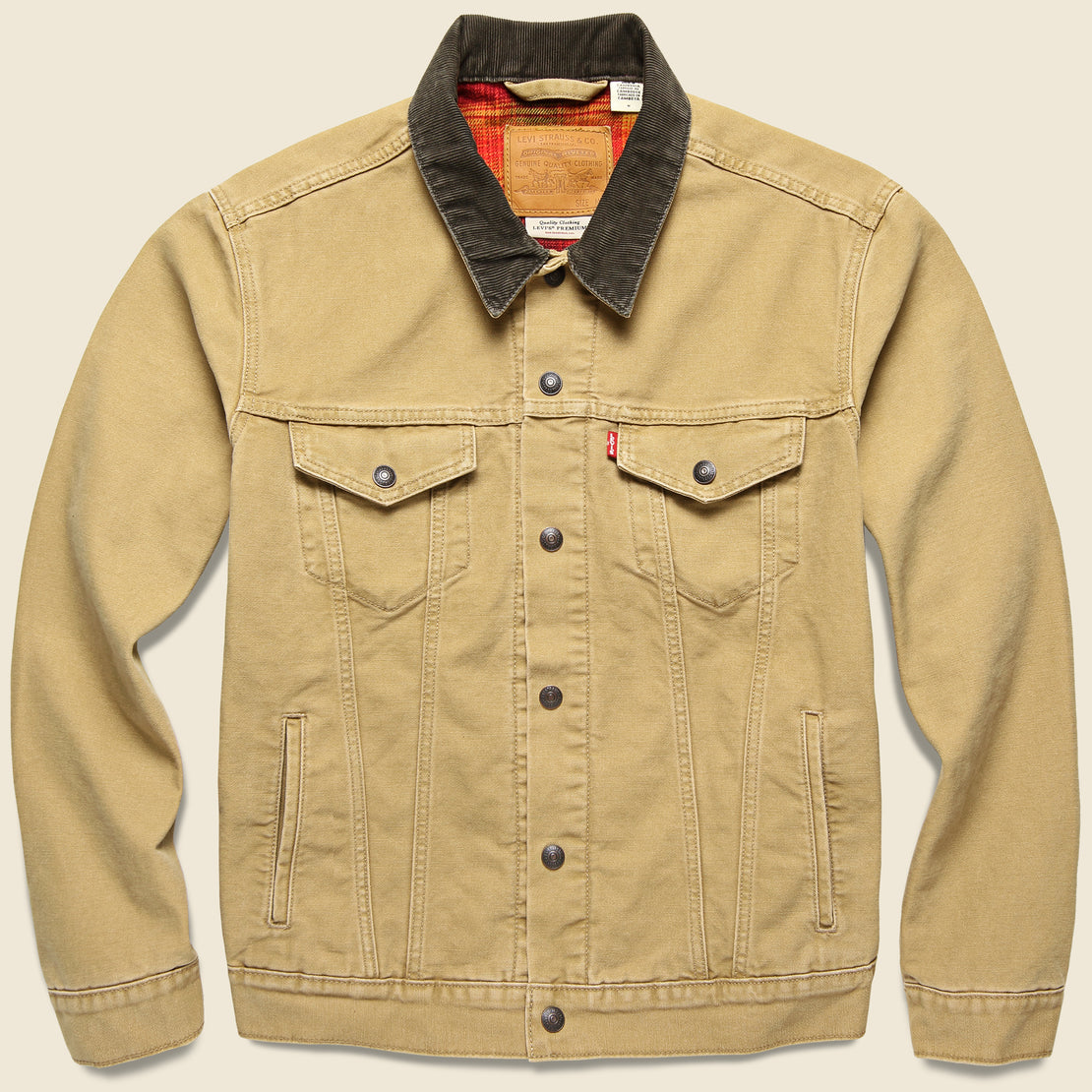 Levis Premium Lined Trucker Jacket - Dijon Canvas