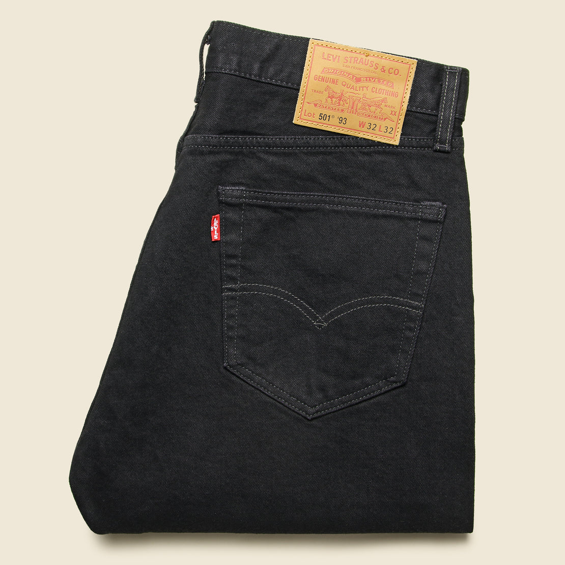 501 '93 Straight Jean - Punk Black