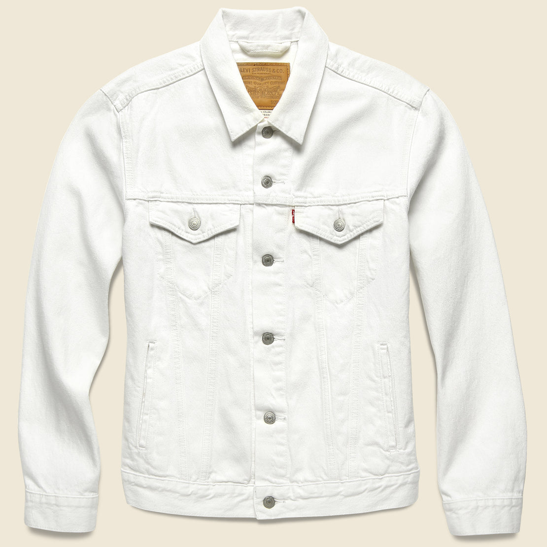 Levis Premium Trucker Jacket - White Out