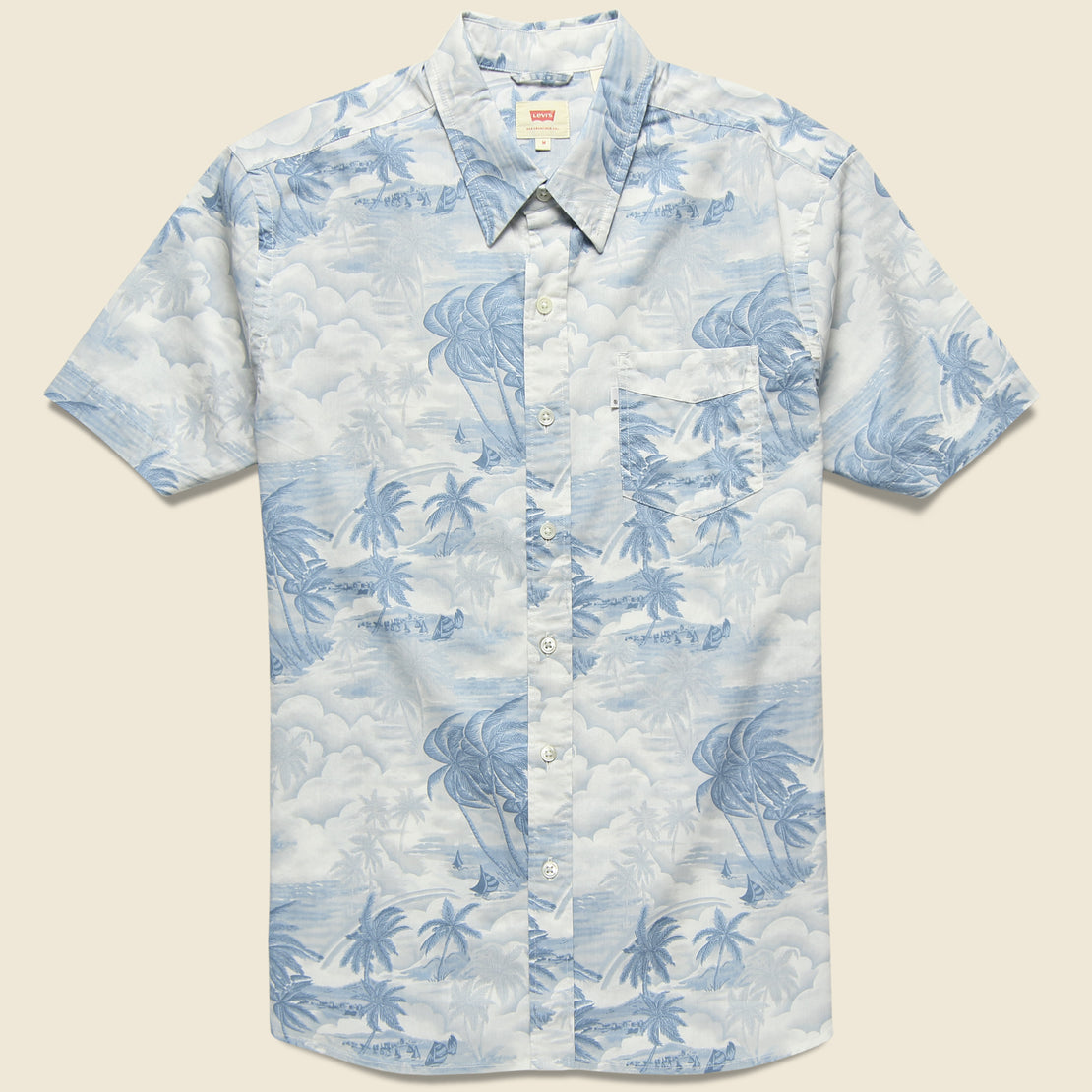 84d1a4c0c56 Levis Premium Sunset Pocket Shirt - Acid Hawaiian Dusty Blue ...