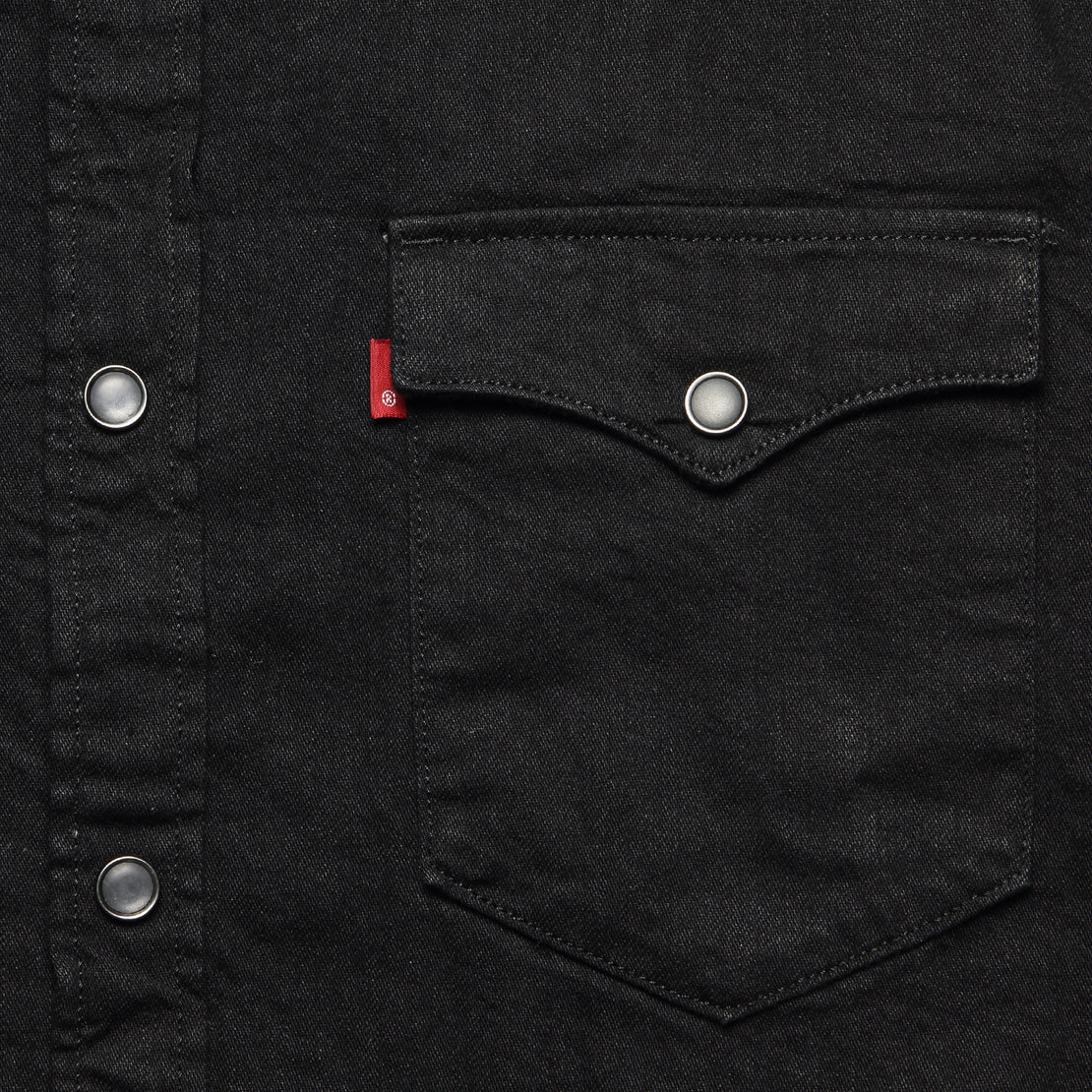 Barstow Western Shirt - Marble Black Denim