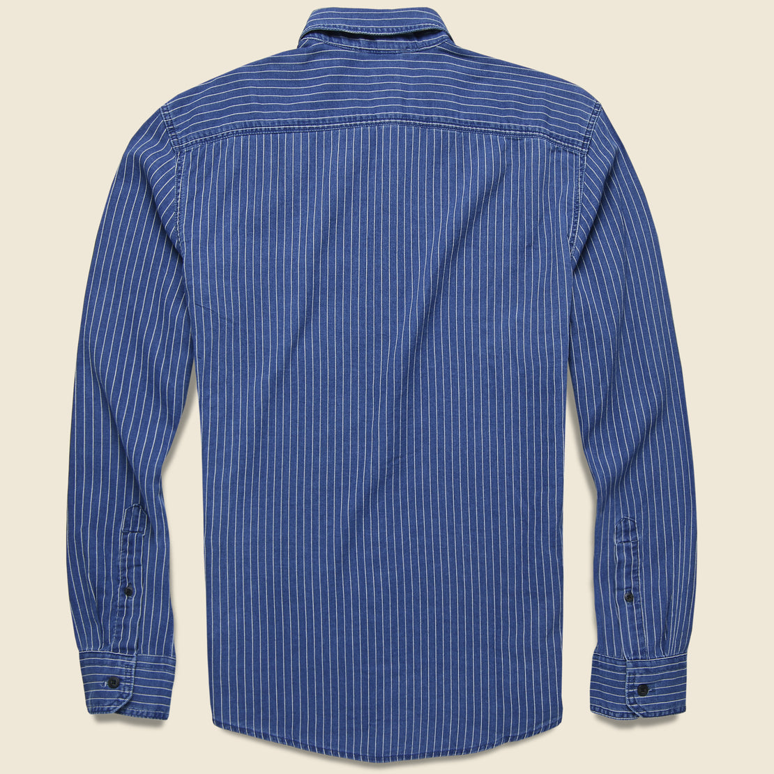 Sunset One-Pocket Slim Shirt - Indigo Stripe