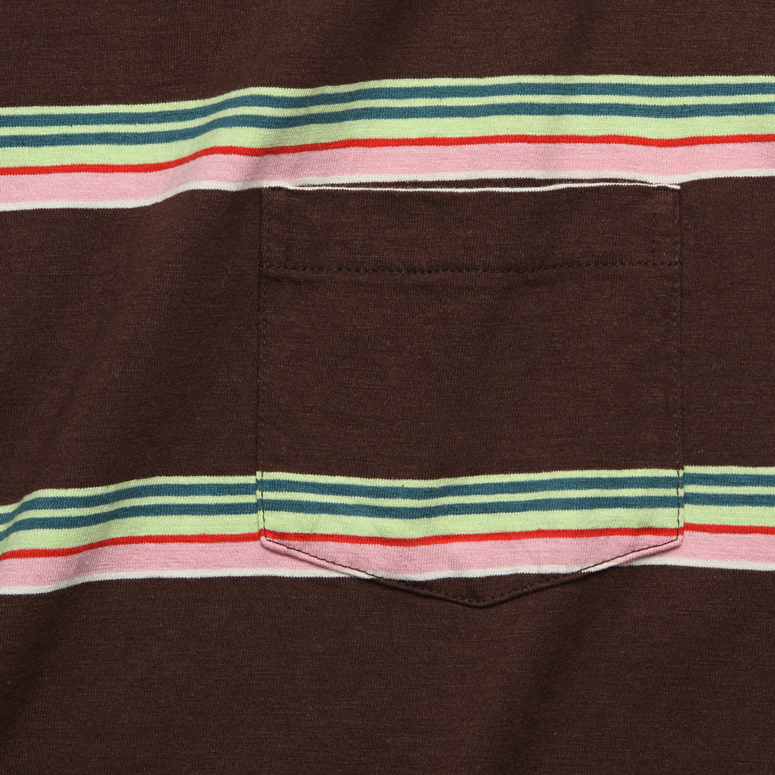 1960s Casual Stripe Tee - Brown