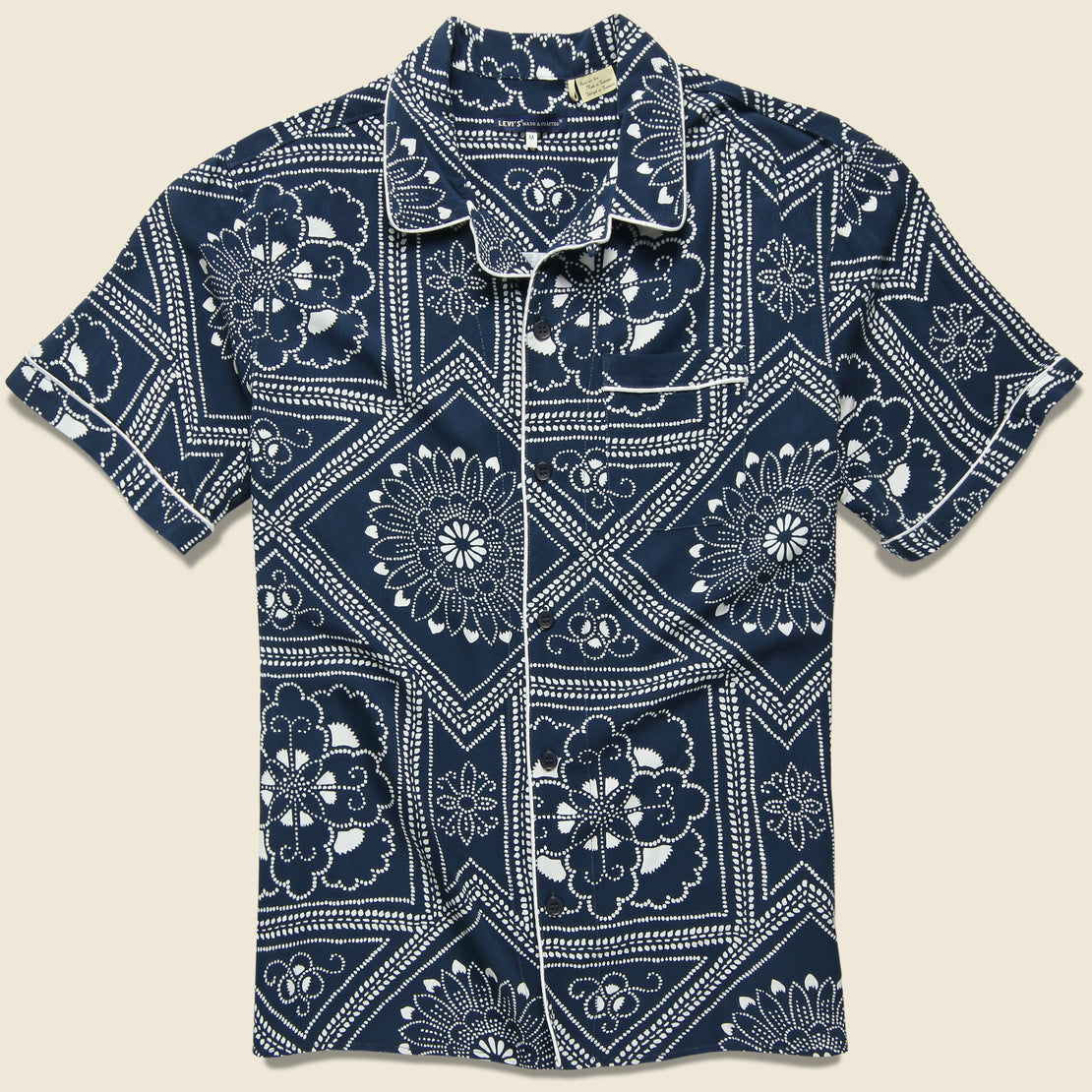 Levis Made & Crafted Pajama Shirt - Bandana Blues