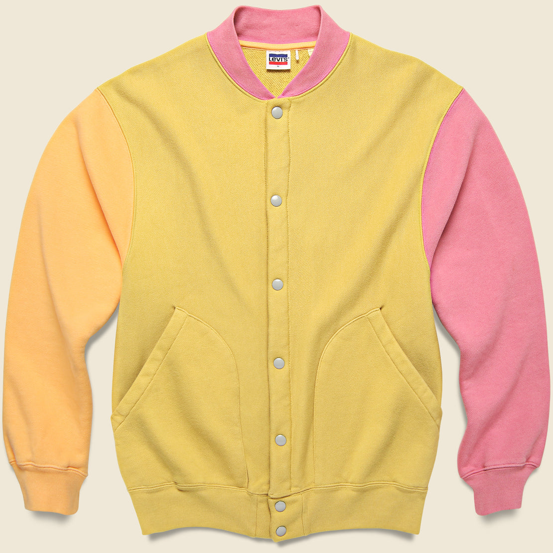 Levis Vintage Clothing Fleece Cardigan - Lemon/Orange/Pink/Tan
