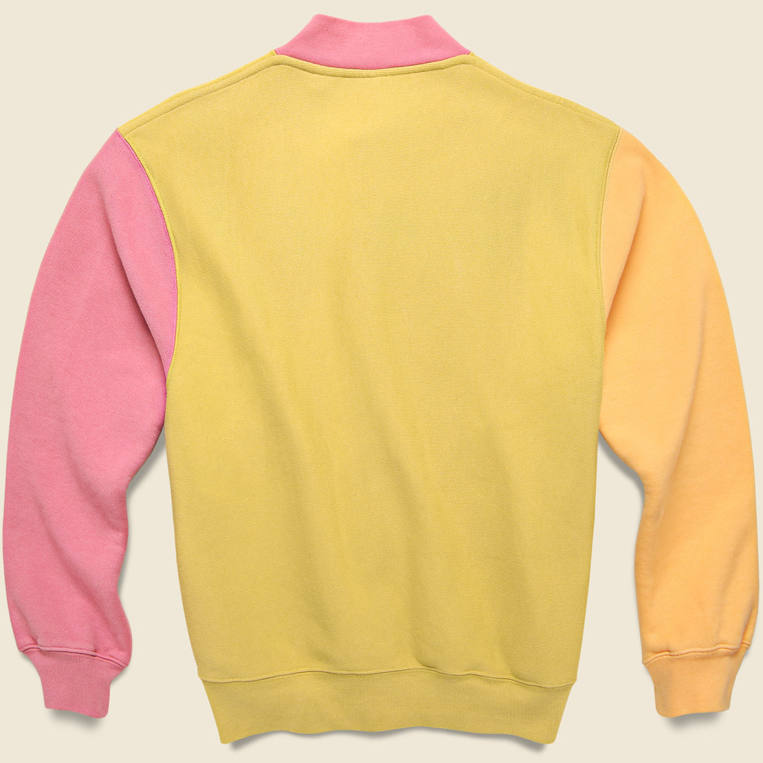 Fleece Cardigan - Lemon/Orange/Pink/Tan