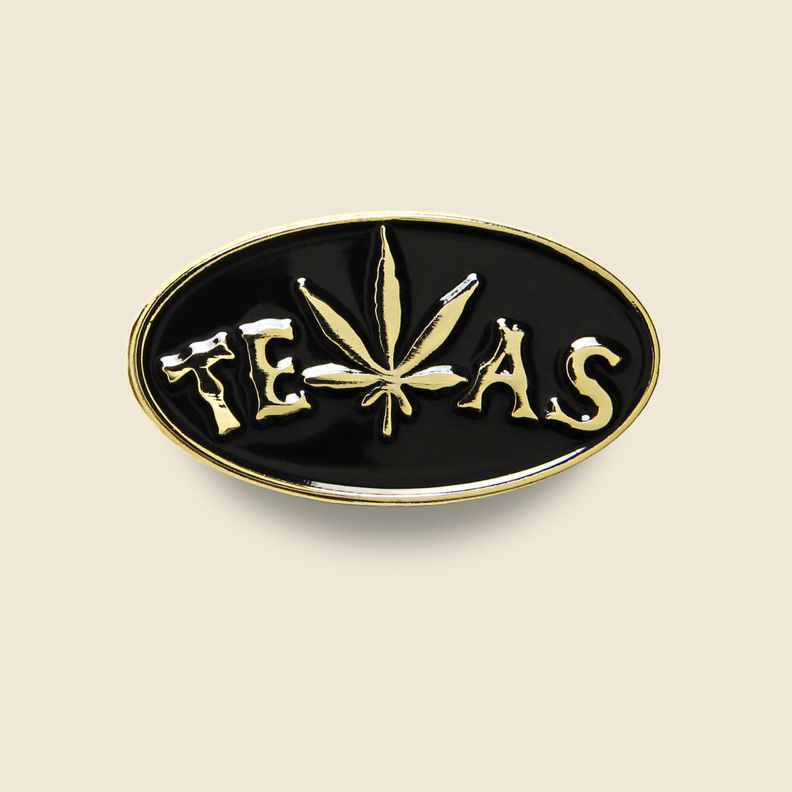 Alchemy Design TEXAS Weed Leaf Pin - Black