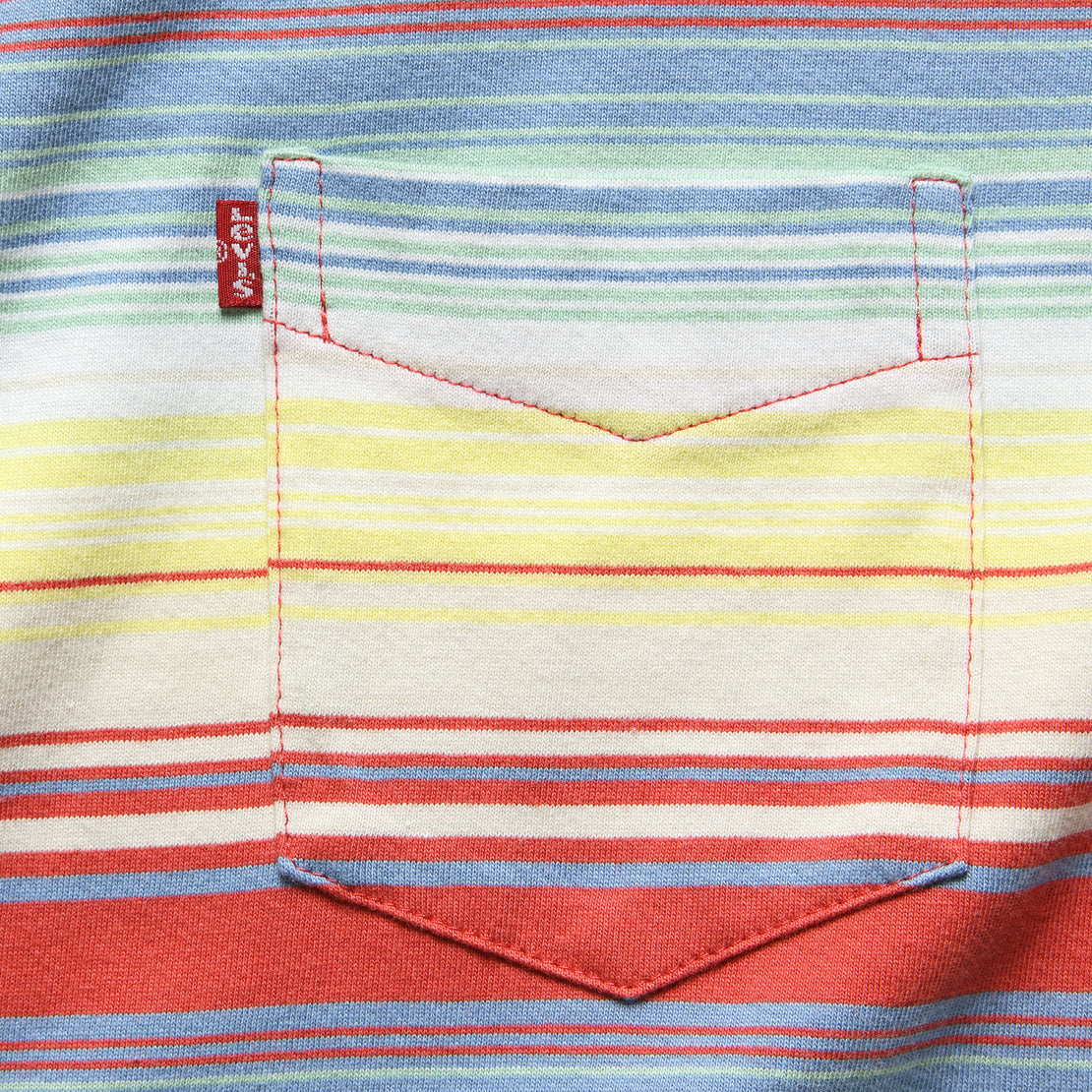 Sunset Pocket Tee - Fiesta Stripe