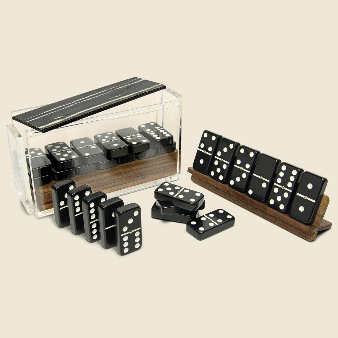 STAG Domino Set -  Black/Walnut