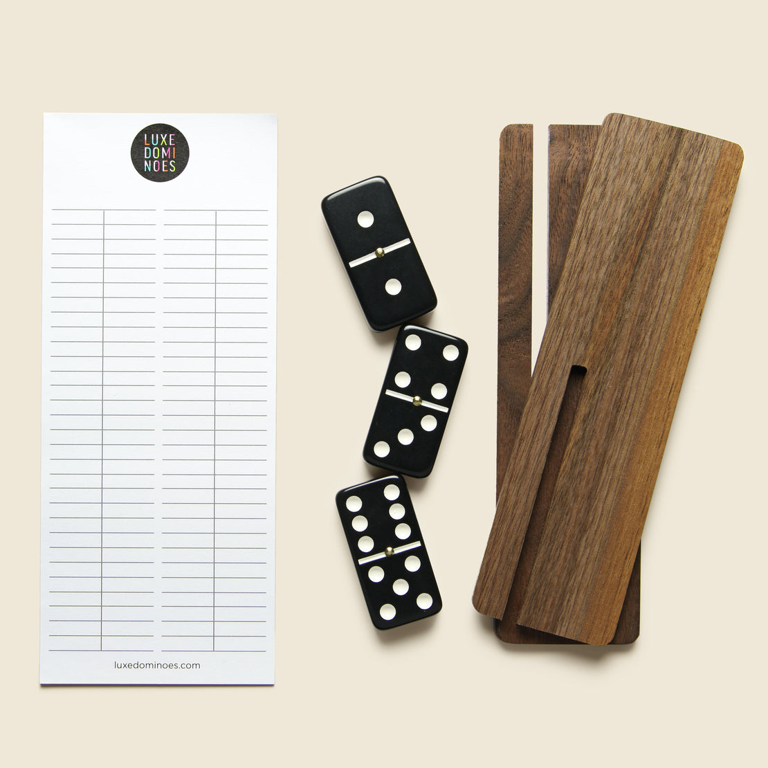 Domino Set -  Black/Walnut