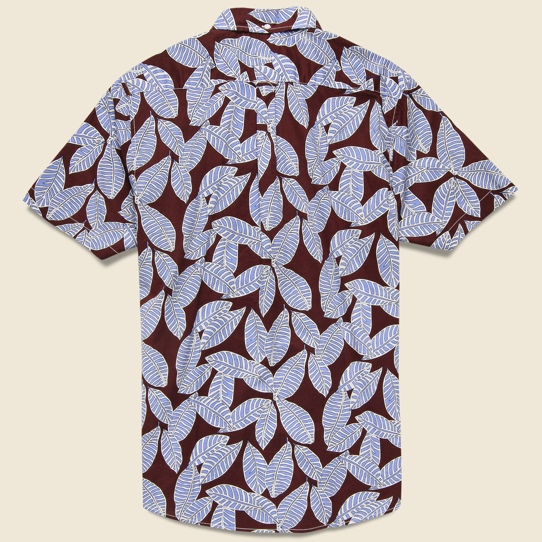 Leaf Print Shirt - Brown