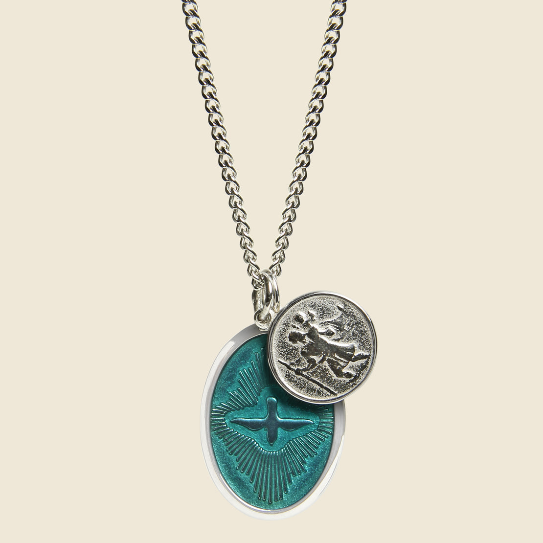 Miansai Dove Pendant Necklace - Enamel/Sterling Silver