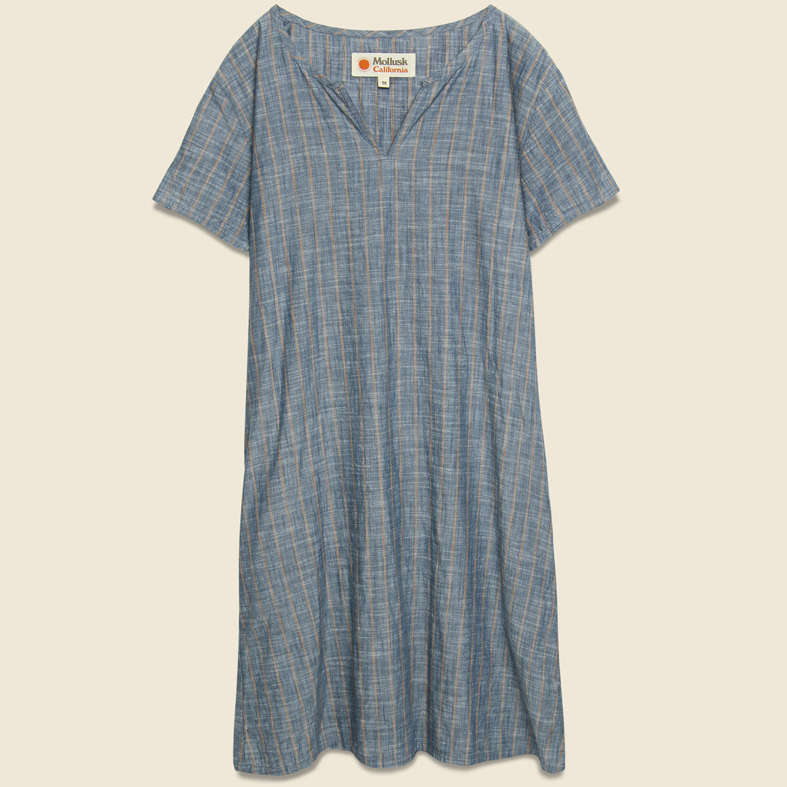 Mollusk Striped Playa Dress - Charcoal