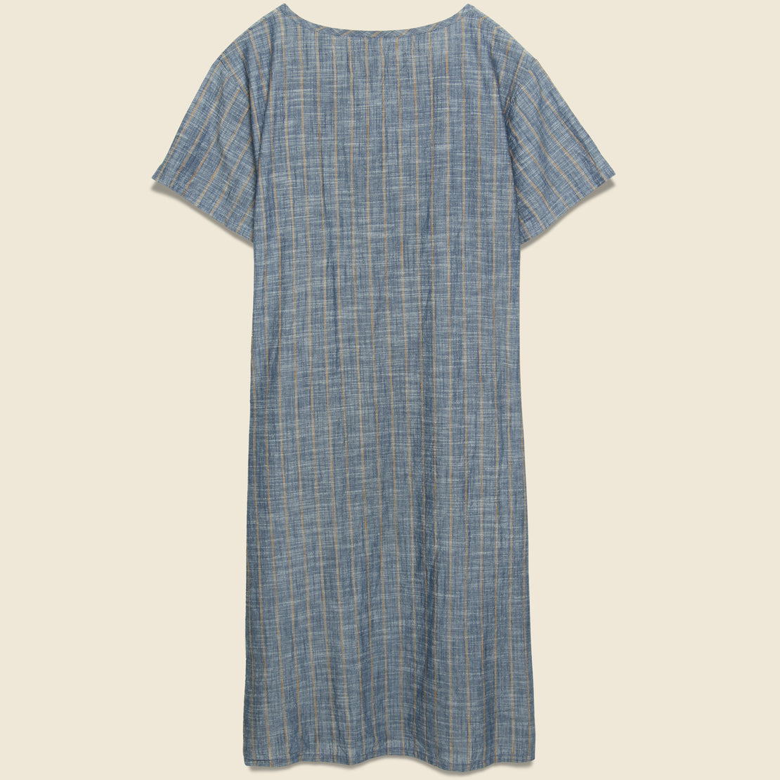 Striped Playa Dress - Charcoal