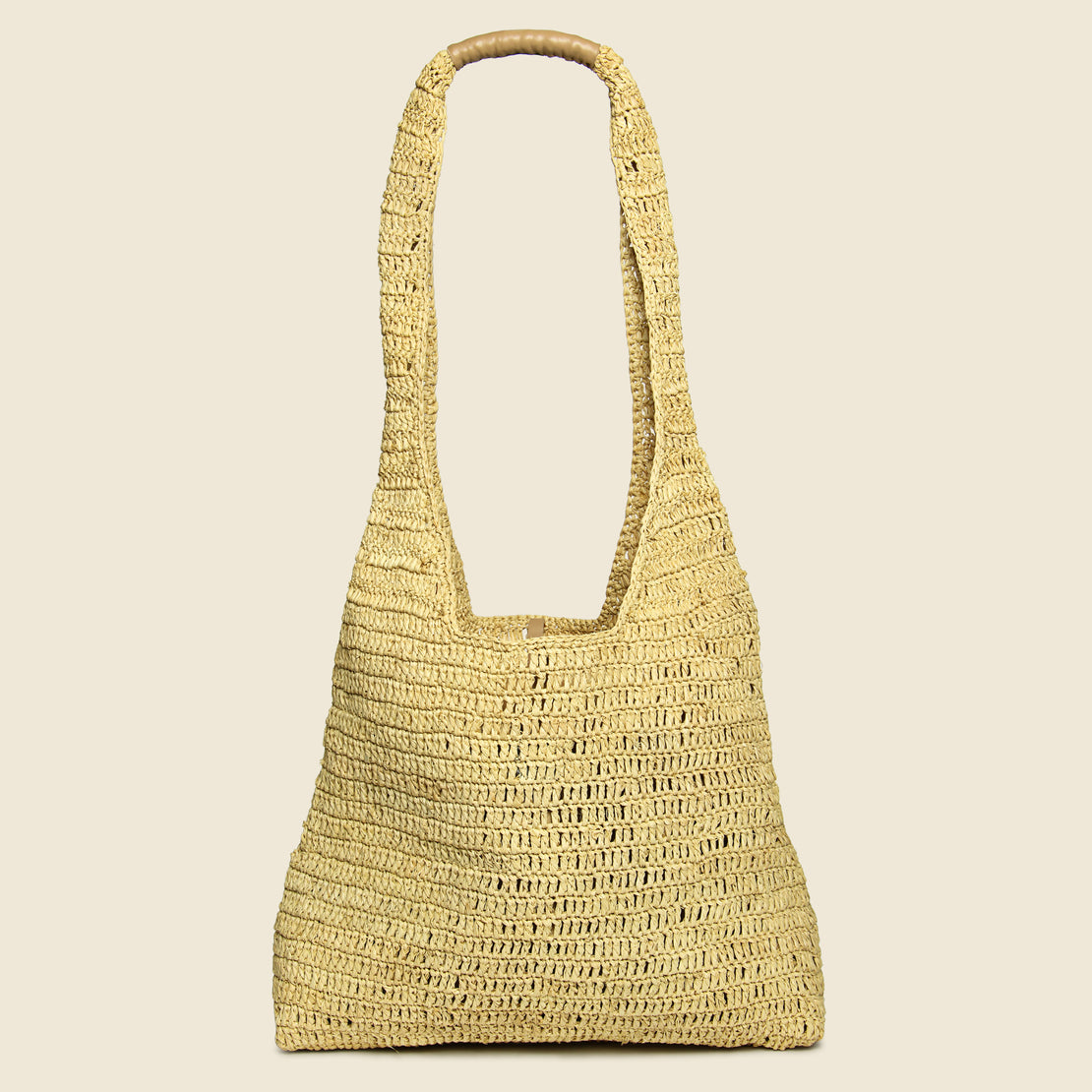 Maison NH Paris Lea Raffia Shoulder Bag - Natural