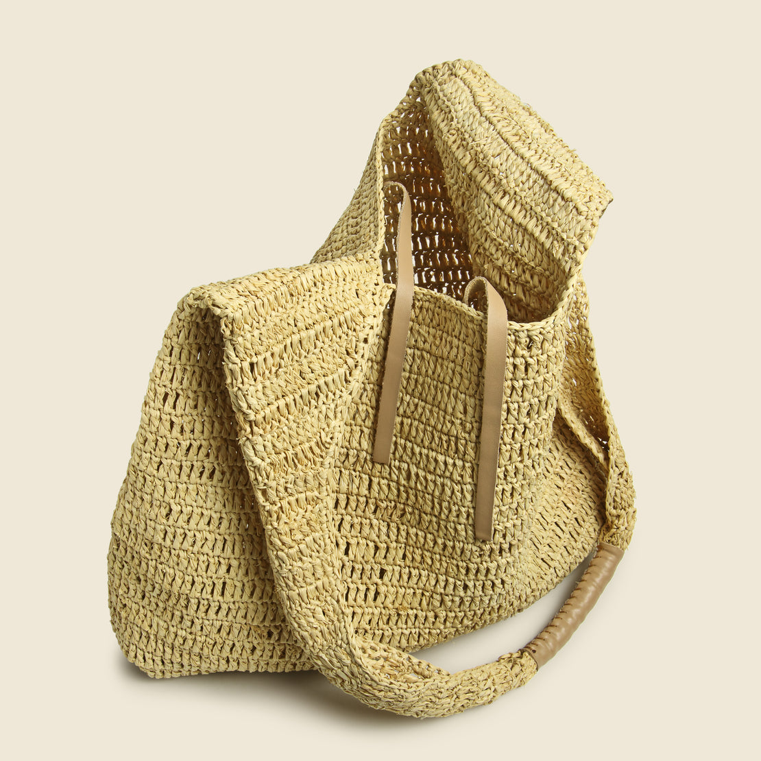 Lea Raffia Shoulder Bag - Natural