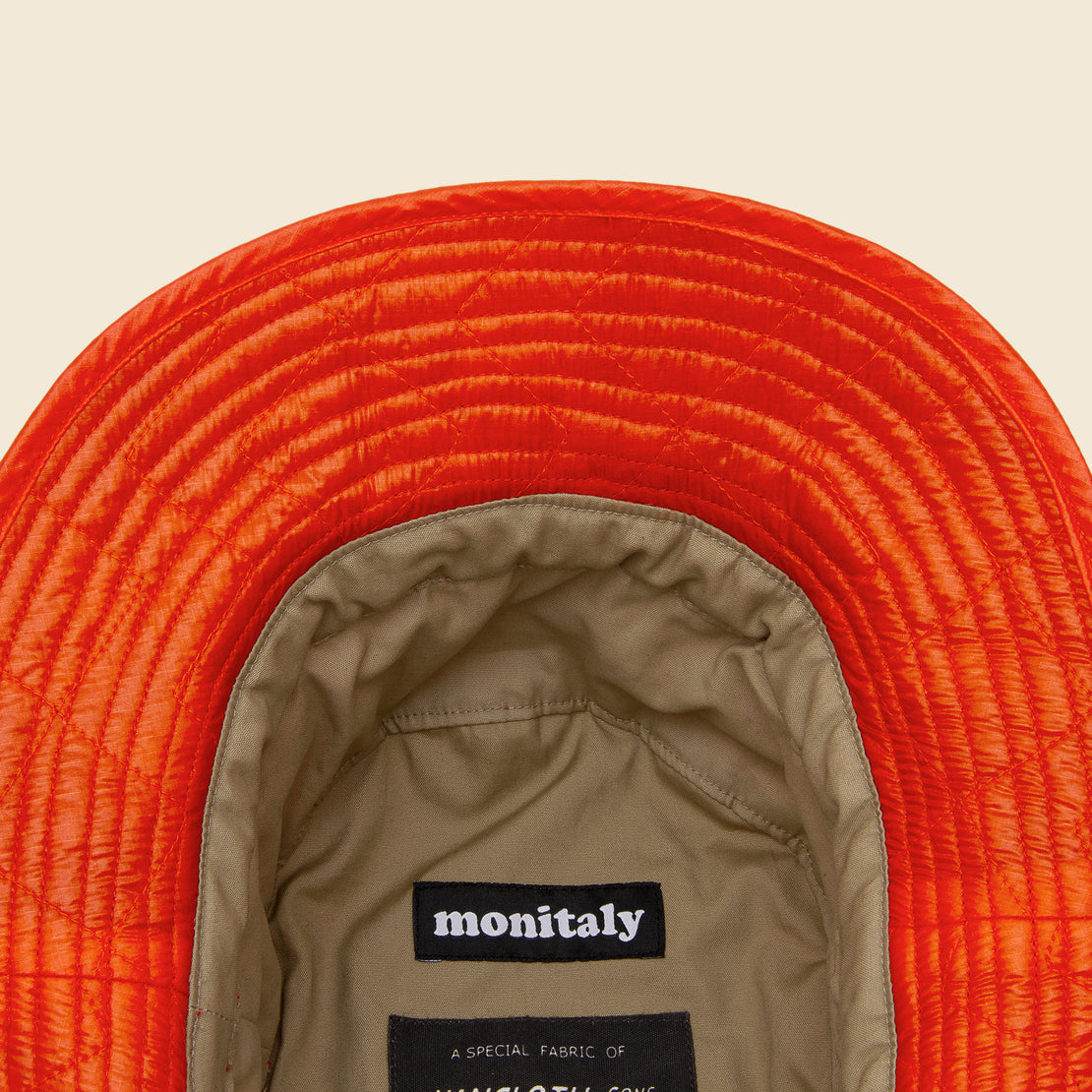 Zigzag Quilted Bucket Hat - Orange