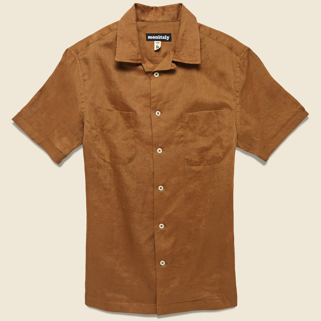 Monitaly Vacation Shirt - Brown
