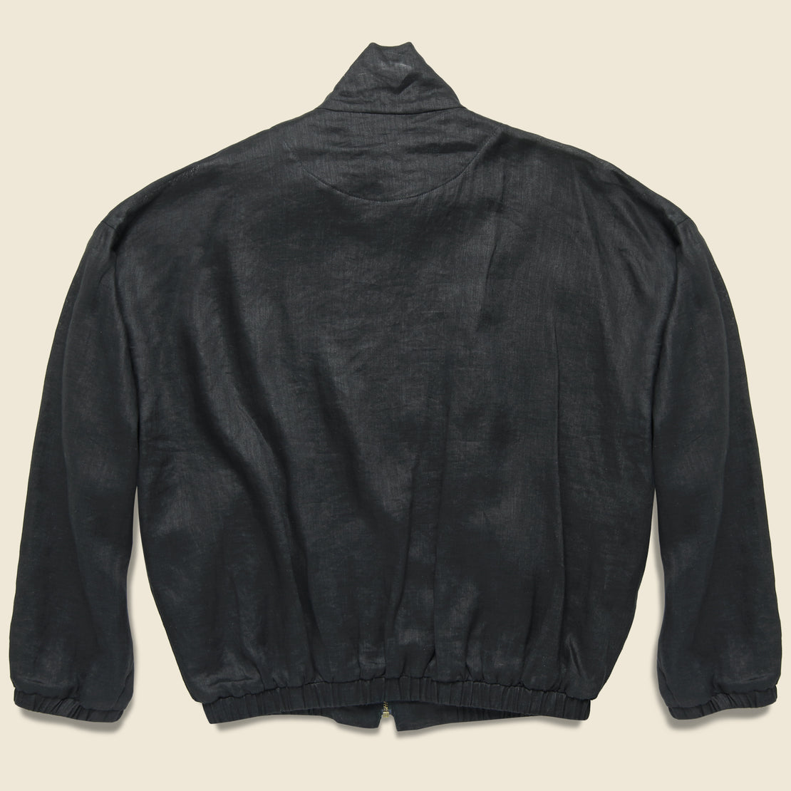 Old Dog Linen Blouson Jacket - Black