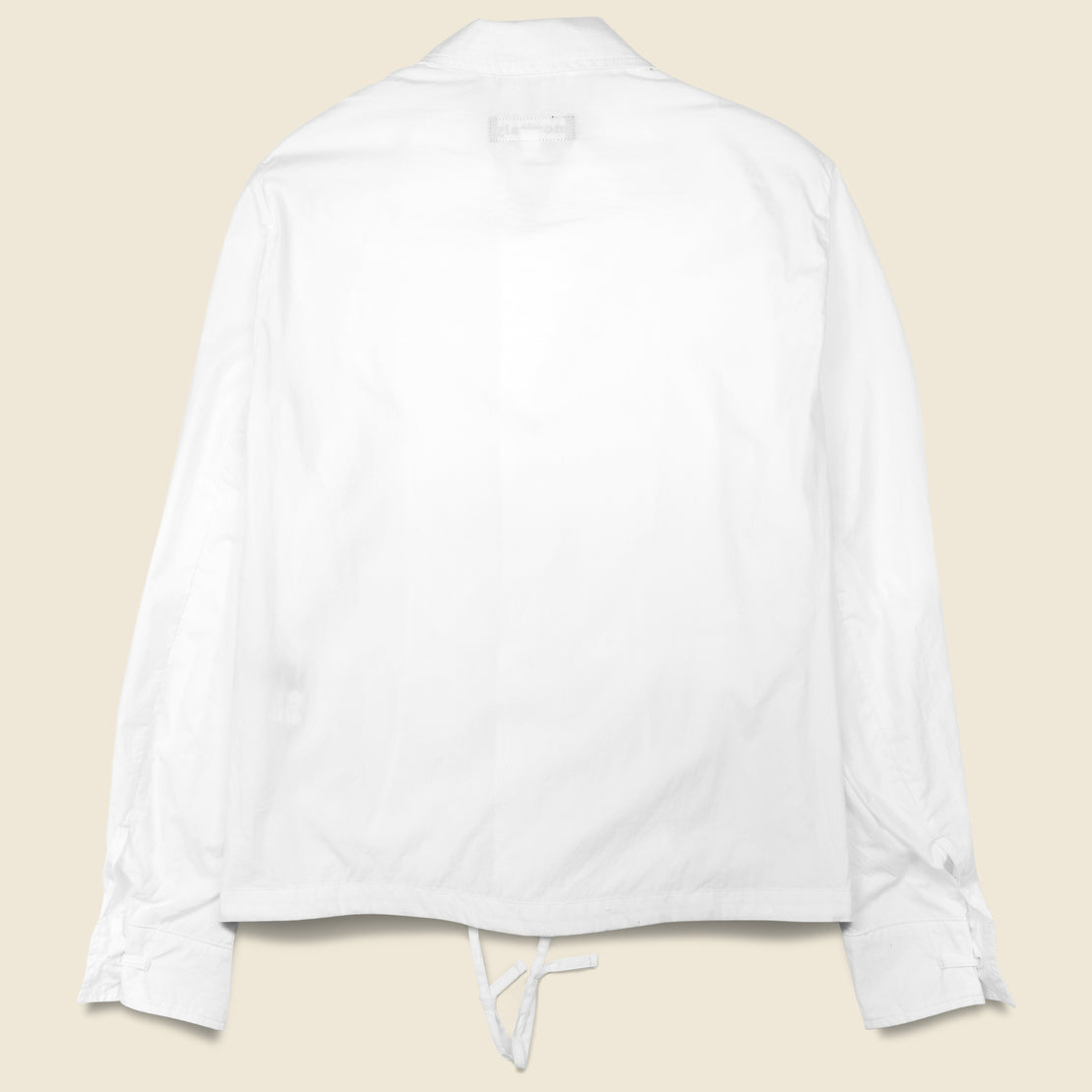 Poplin Type-A Military Service Jacket - White
