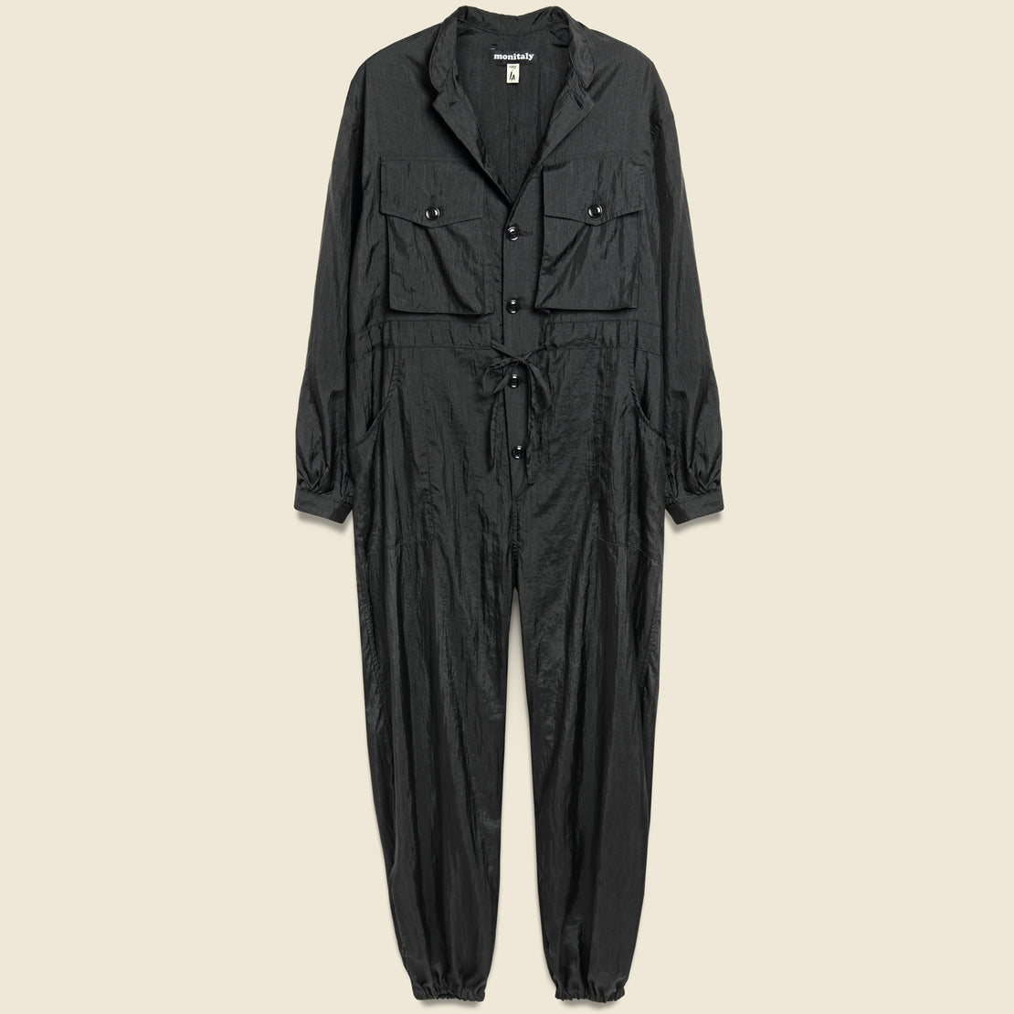Monitaly Taslan Nylon Type-D Military Tsunagi Jumpsuit - Black