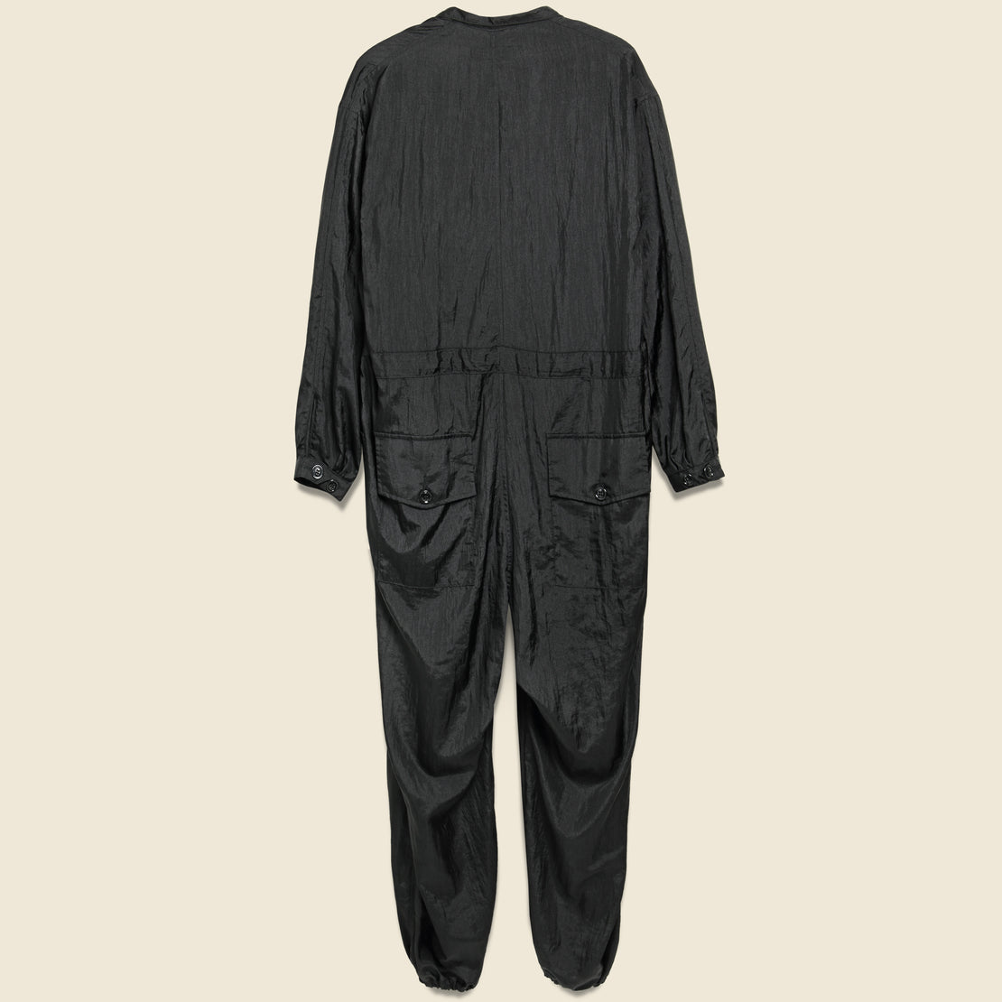 Taslan Nylon Type-D Military Tsunagi Jumpsuit - Black