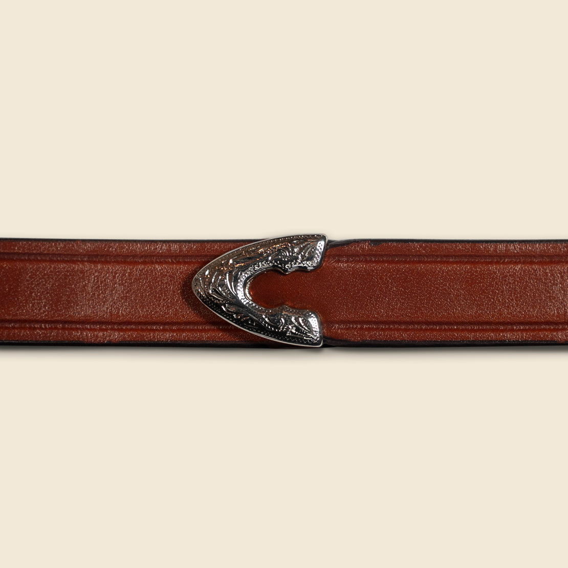 Extra Long Leather Belt - Brown