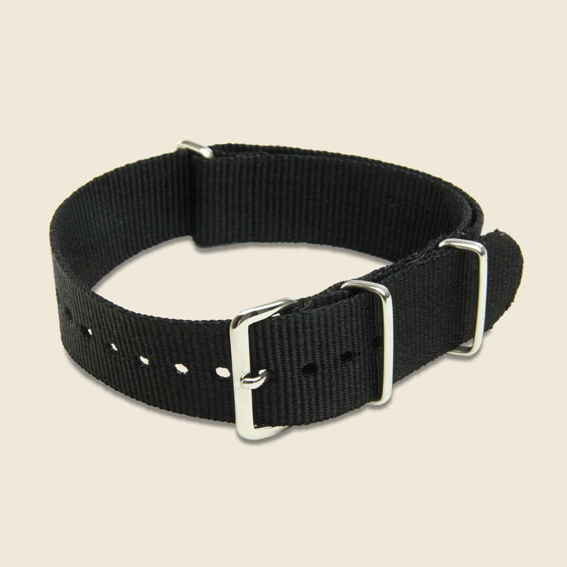 MWC 18mm Watch Band - Black