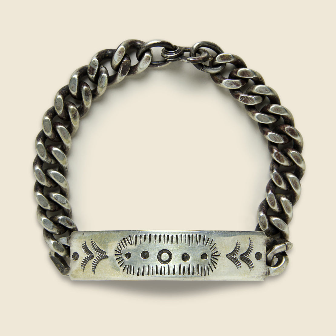 MANO Stamped Camp Bracelet - Sterling Silver