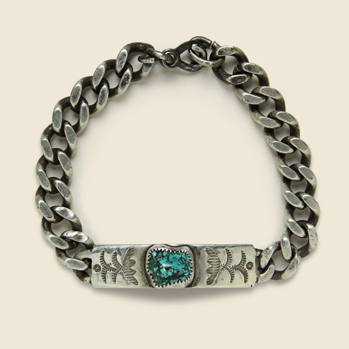 MANO Signature Bracelet - Sterling Silver/Turquoise