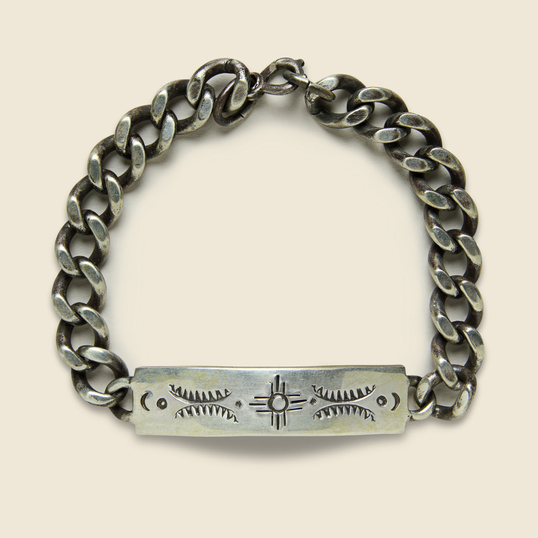 Stamped Camp Bracelet - Sterling Silver - MANO - STAG Provisions - Accessories - Cuffs