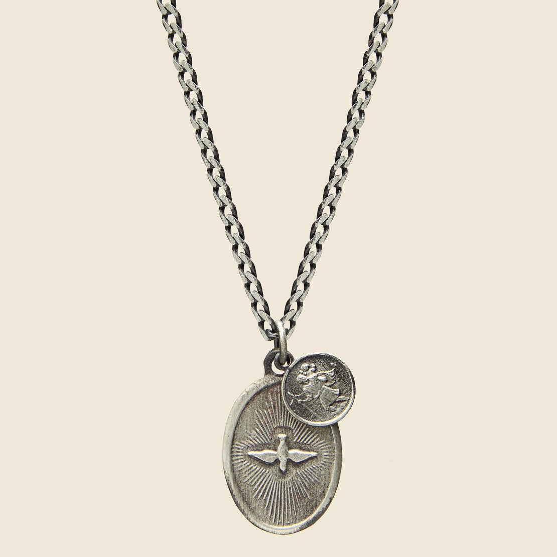 Miansai Dove Pendant Necklace - Polished Silver