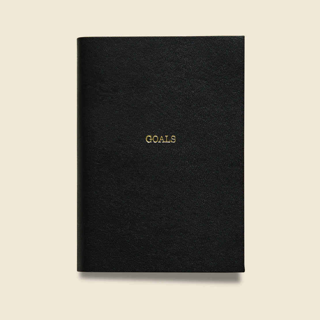 "Paper Goods ""GOALS"" Leather Journal - Black"