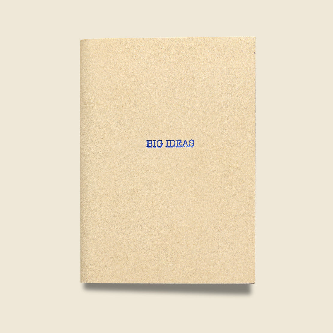 "Paper Goods ""BIG IDEAS"" Leather Journal - Natural"