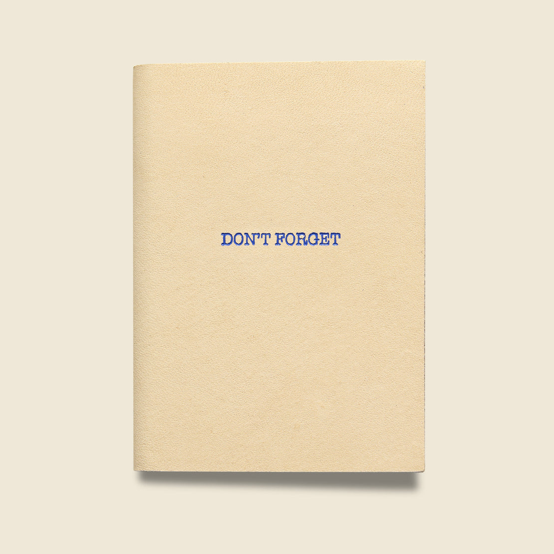 "Paper Goods ""DON'T FORGET"" Leather Journal - Natural"