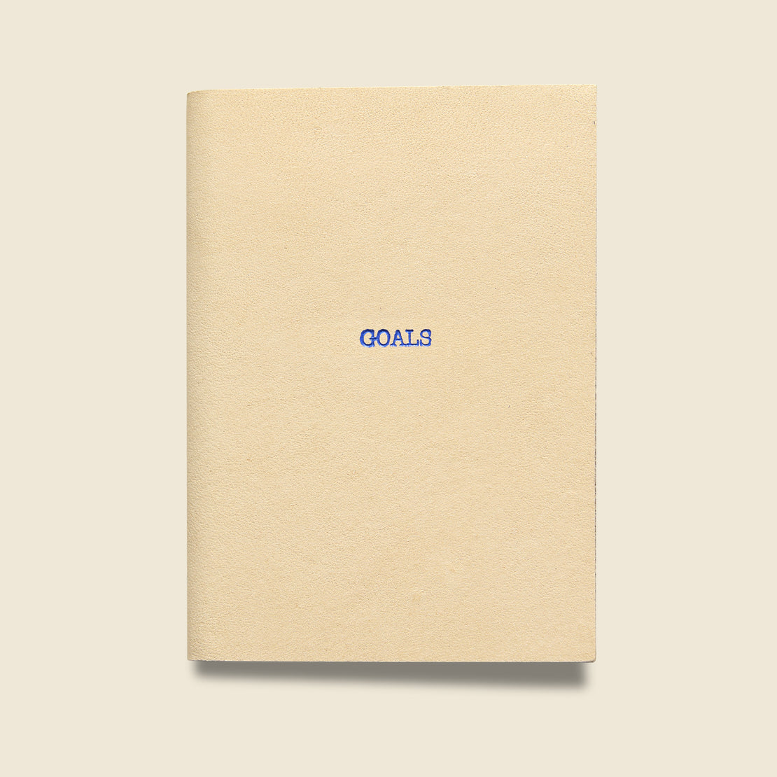 "Paper Goods ""GOALS"" Leather Journal - Natural"