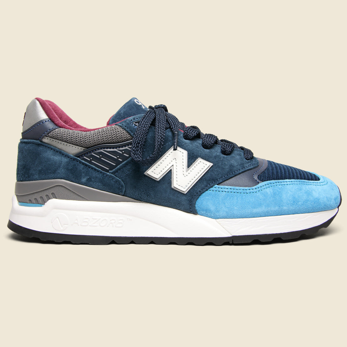 New Balance 998 Sneaker - Blue/Grey