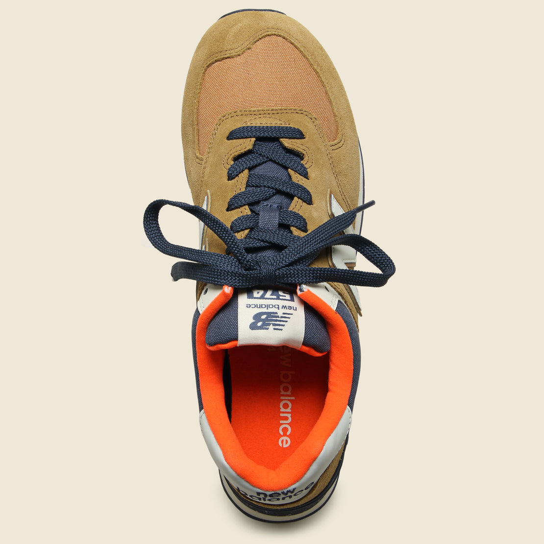 half off 6bd99 5a4aa 574 Hi-Viz Sneaker - Brown Sugar