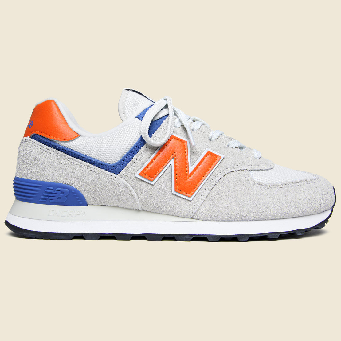 meet 1e39b 43686 New Balance 574 Sneaker - Blue Orange ...